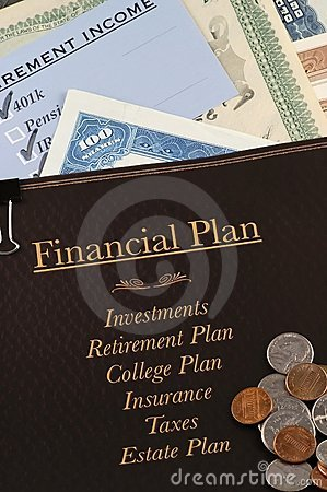 Financial Plan Stock Photo - Image: 1560990