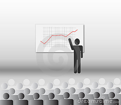Financial presentation vector illustration