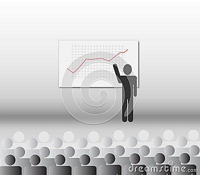 Financial presentation vector illustration