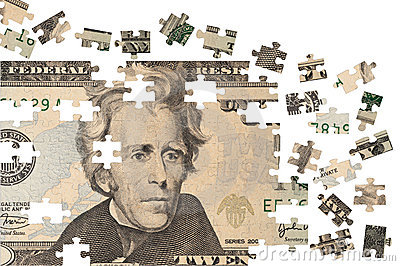 Financial Puzzle Royalty Free Stock Photo - Image: 16995645