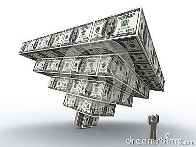 Financial pyramid crush