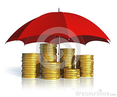 Financial stability, success and insurance concept