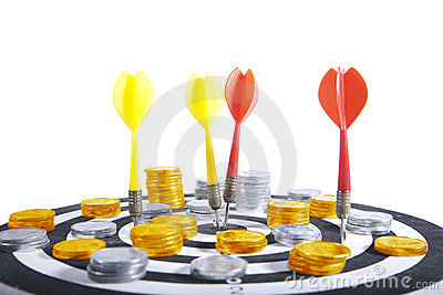 Financial Target Conccept Isolated Over white