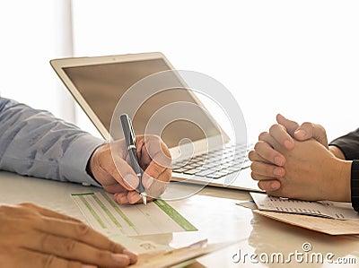 Financial Transactions Stock Photo
