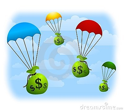 Free Financial Windfall Parachutes Stock Images - 5460054
