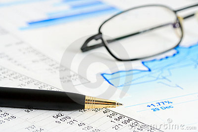 Financial graphs and charts accounting