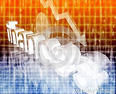 Financie el fondo de la ilustración del concepto de la tendencia de
