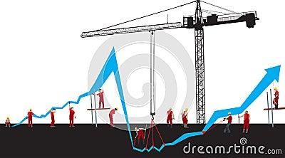 Finansiell graf för kris