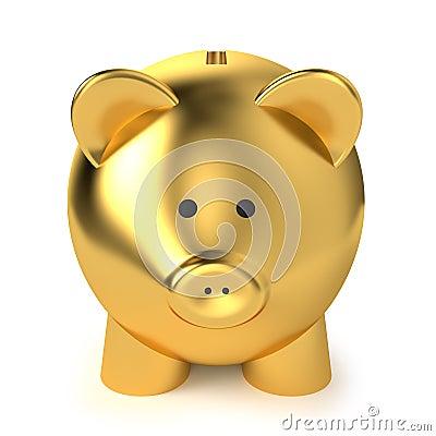 Goldene Piggy Bank
