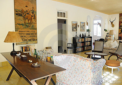 Finca Vigia, home of Hemingway in Cuba. Editorial Stock Photo
