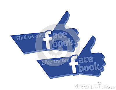 Find and Like Us On Facebook Strong Thumb Icon