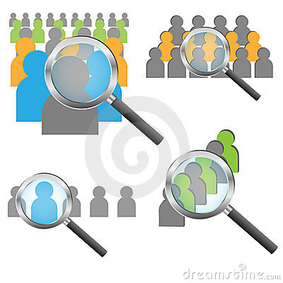 Find people concept
