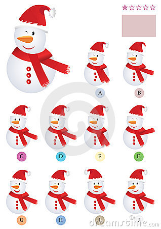 Find The Same Snowman_eps