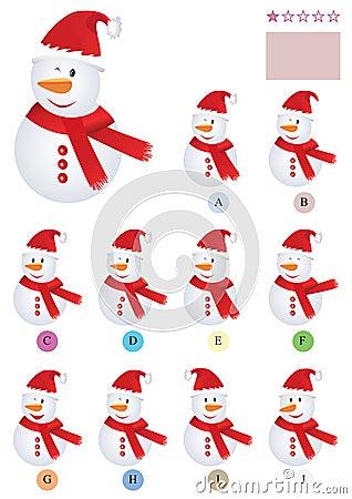 Free Find The Same Snowman_eps Stock Photos - 22138193