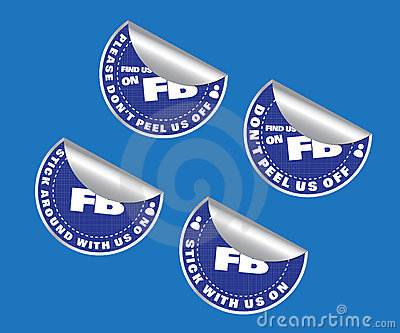 Find us on Social Media Network Label Stickers Set Editorial Photography