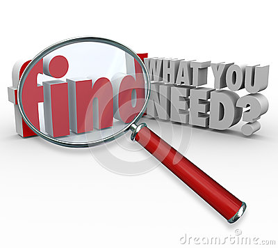 Free Find What You Need Magnifying Glass Searching For Information Royalty Free Stock Images - 35557439