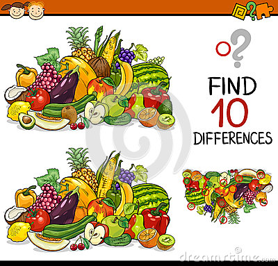 Free Finding Differences Game Cartoon Stock Photography - 51317982