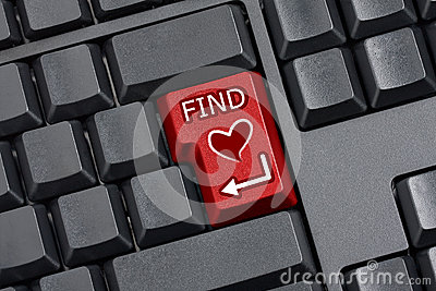 Finding Love Key Empty Computer Keyboard