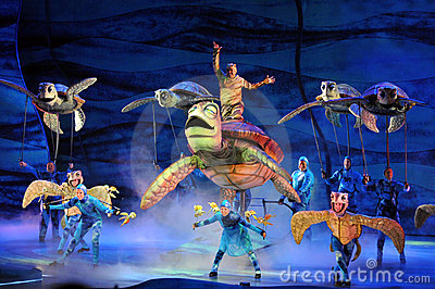 Finding Nemo Play at Disney World Editorial Stock Photo