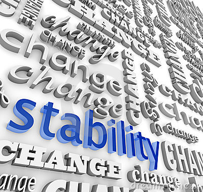 Free Finding Stability In The Midst Of Change Royalty Free Stock Photos - 11976228