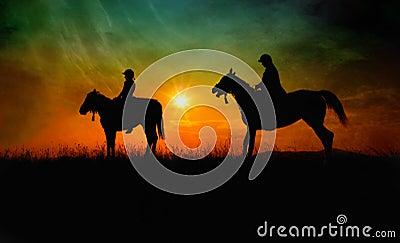 Fine art horse riders