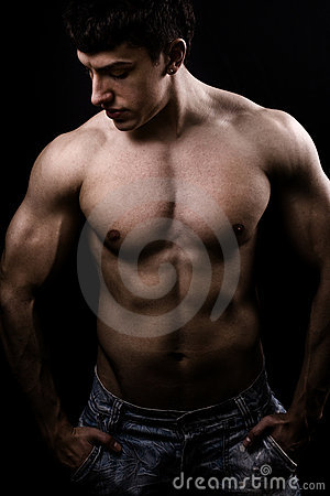 Fine art image of muscular sexy shirtless man