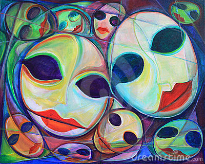 Fine art surreal faces