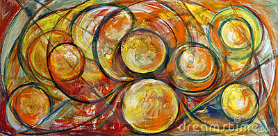 Fine Art Swirls Painting