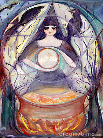 Fine Art Witch Painting