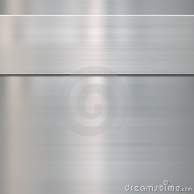 Fine brushed steel metal
