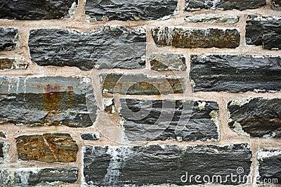 Fine della parete di pietra in su
