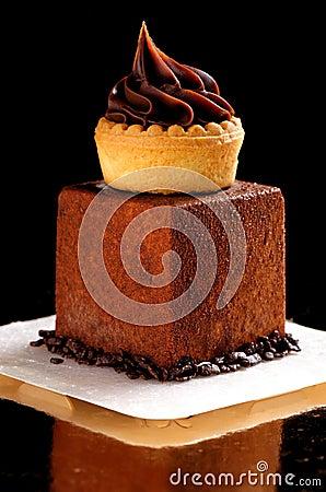 Free Fine Dining, French Dark Chocolate Gourmet Mignon Stock Image - 98854721