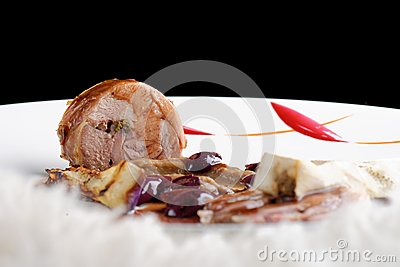 Fine dining, gourmet Main Entree Course Grilled Lamb steak