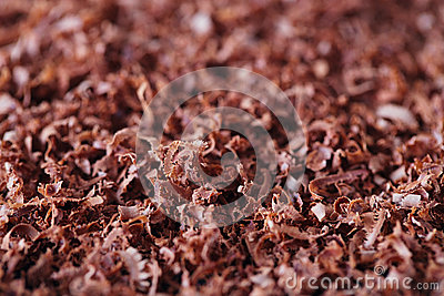Fine grated chocolate background