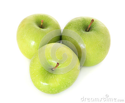 Fine green apples