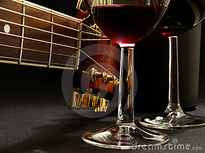 Fine music of wine