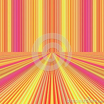Fine pink orange perspective