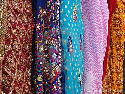 Fine silk brocade saree fabric