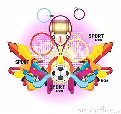 Fine sports symmetric composition with a cup and p