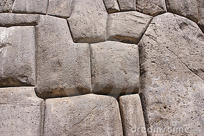 Fine stonework in Inca fortress walls