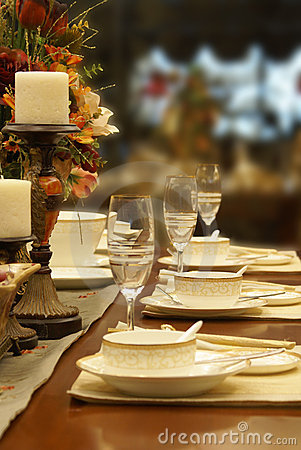 Free Fine Table Setting Stock Photo - 8898360
