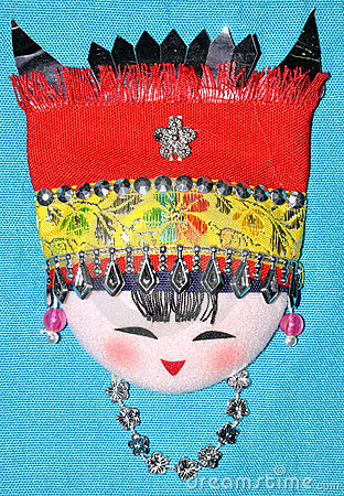 Free Finery Embroidery Of Chinese Minority Traditional Royalty Free Stock Image - 14390146