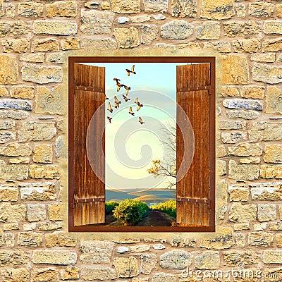 finestra aperta immagini stock immagine 3422814