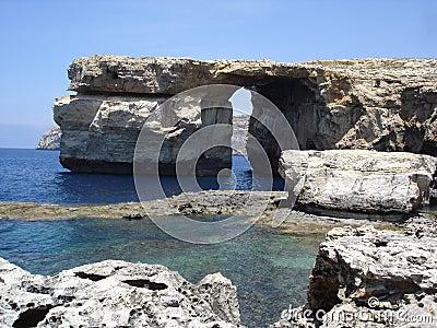 Finestra azzurrata a Malta