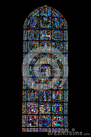 Finestra del vangelo della cattedrale di chartres francia immagine stock immagine 31374521 - La finestra biz ...