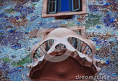 Finestra della casa batllo barcellona fotografia stock - Finestra in spagnolo ...