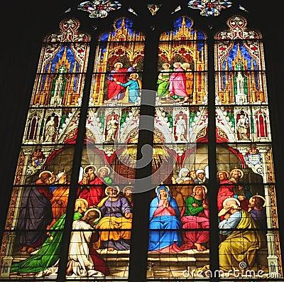 Finestra di vetro macchiata Germania