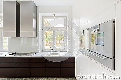 Finestra Nella Cucina Fotografia Stock Immagine 47608541