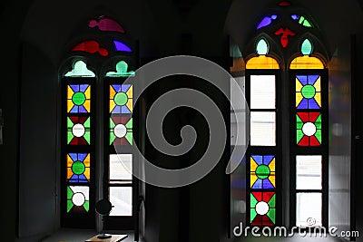 Finestre di vetro macchiato