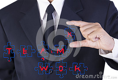 Finger businessman holding